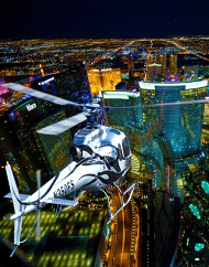 Las Vegas Night Strip Flight Plus Dinner Package
