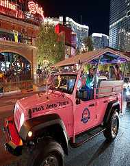 Bright Lights City Tour Las Vegas Strip Pink Jeep