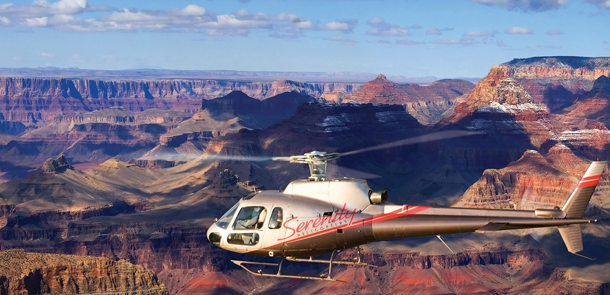 GRAND CANYON HELICOPTER FLIGHT PICNIC LANDING TOUR