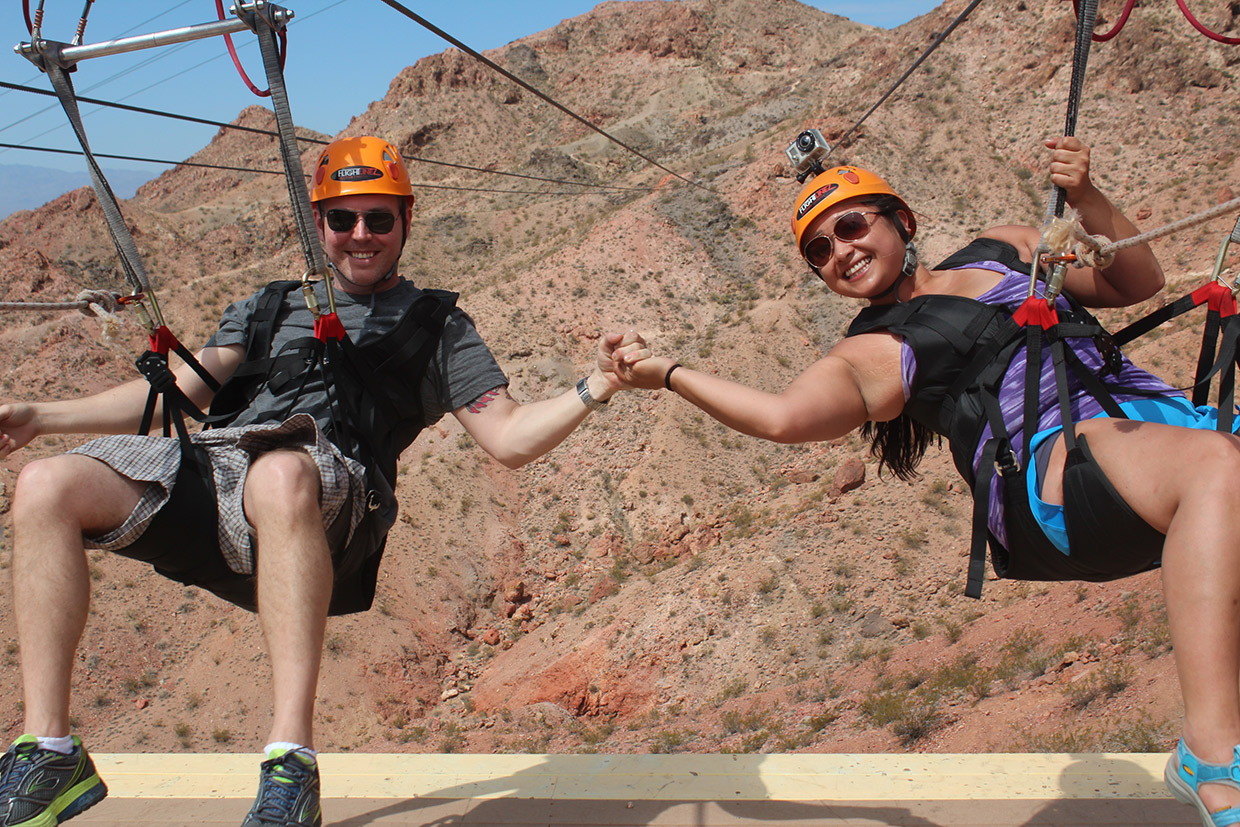Zipline Tour Experience Over Bootleg Canyon Near Las Vegas