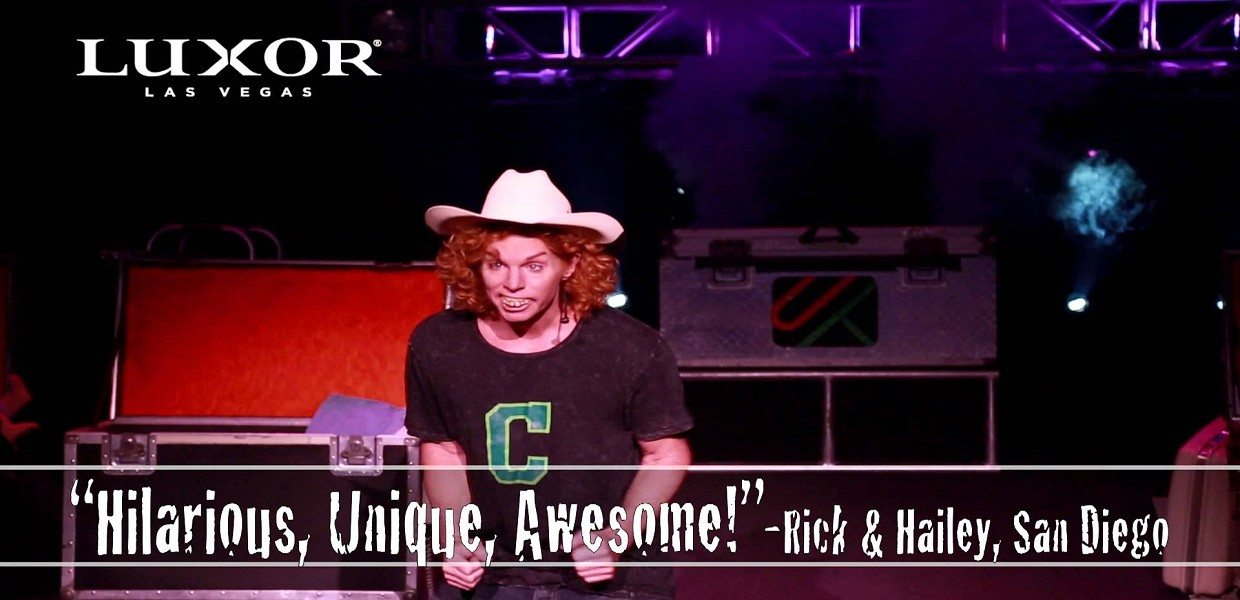 The Tour Exchange Carrot Top Tickets Las Vegas