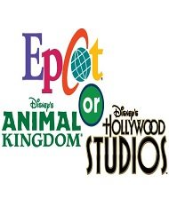 Walt Disney World Epcot Hollywood Studios Animal Kingdom Adult Tickets