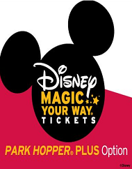 Walt Disney World Park Magic Your Way Park Hopper Plus Option Ticket