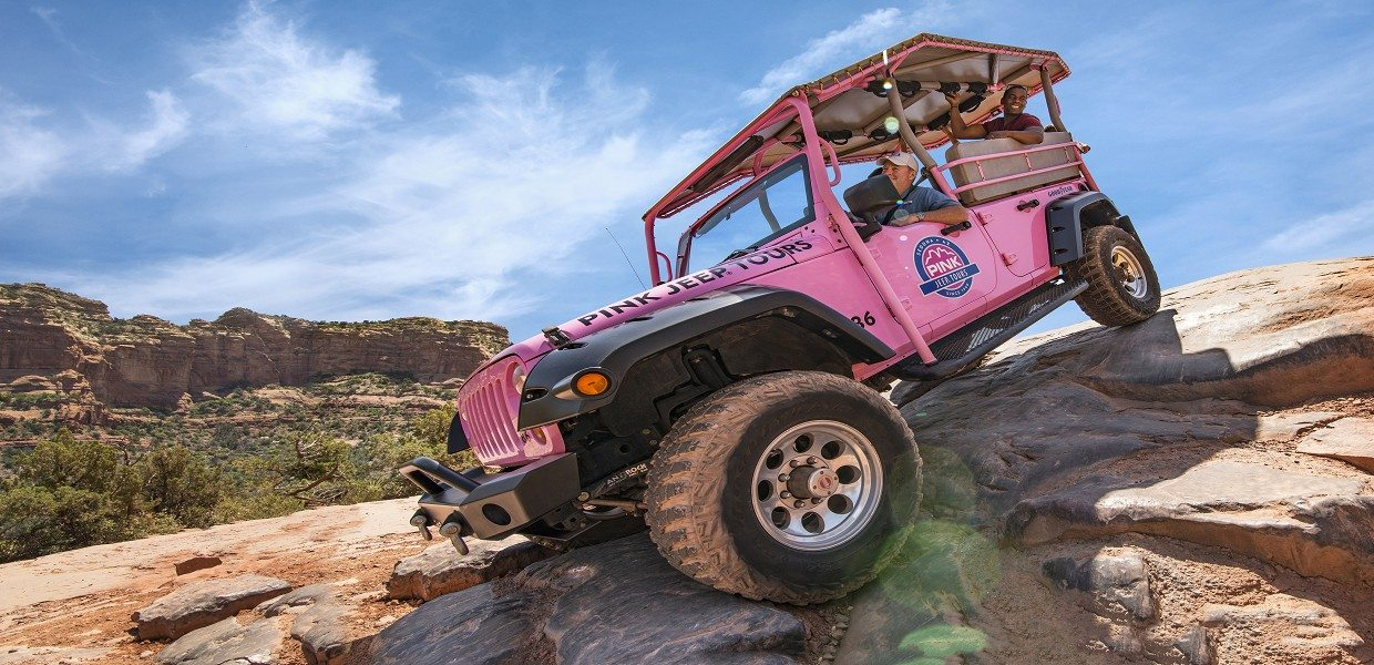 The Tour Exchange Pink Jeep Broken Arrow Tour